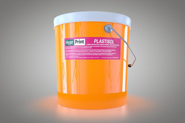HyprPrint Plastisolfarbe Neon-Orange 6kg